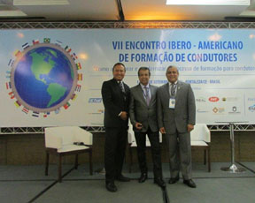 ALACI, presente en VII encuentro en Fortaleza ; Jaime Bravo de Chile, Alfredo Pellene de Argentina y Gerardo Gutiérrez de México
